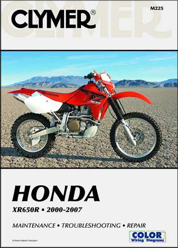 Honda XR650R 2000 - 2007 Clymer Owners Service & Repair Manual