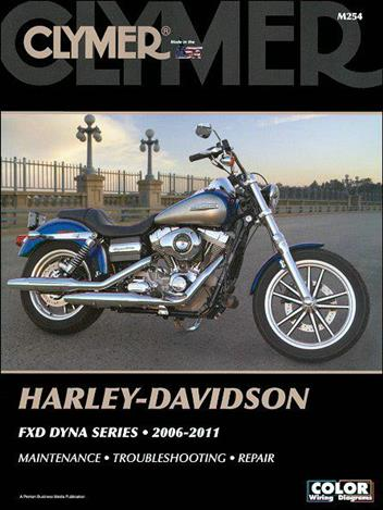 Harley Davidson FXD Dyna Series 2006-2011 (CD with Flowcharts & Wiring Diagrams)Clymer Owners Service & Repair Manual