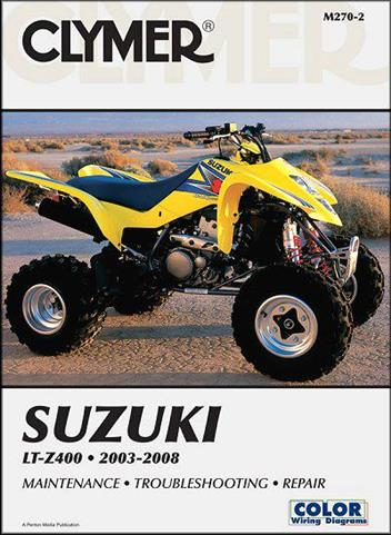 Suzuki LT-Z400 2003 - 2008 Clymer Owners Service & Repair Manual