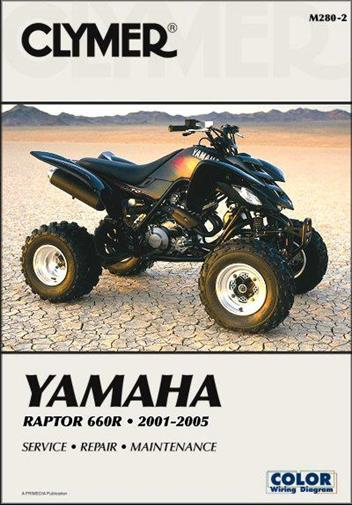 Yamaha Raptor 660R 2001 - 2005 Clymer Owners Service & Repair Manual