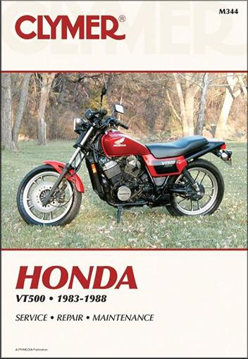 Honda VT500 Ascot, Shadow Euro1983 - 1988 Clymer Owners Service & Repair Manual