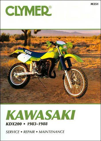 Kawasaki KDX200 1983 - 1988 Clymer Owners Service & Repair Manual