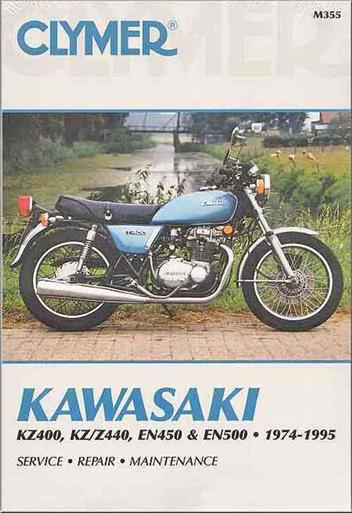 Kawasaki KZ400, KZ, Z440, EN450, EN500 1974 - 1995Clymer Owners Service & Repair Manual