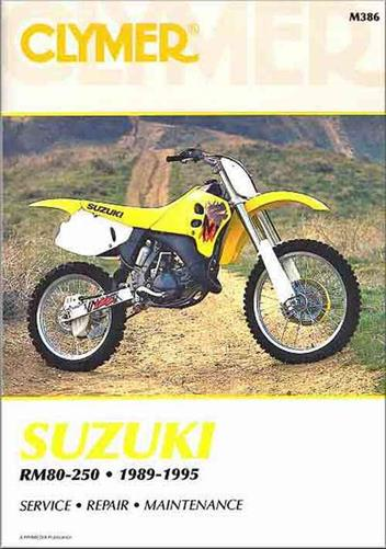 Suzuki RM80, RM125, RM250, RMX250 1989-1995 Clymer Owners Service Repair Manual