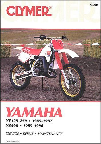 Yamaha YZ125, YZ250 & YZ490 1985 - 1990 Clymer Owners Service & Repair Manual
