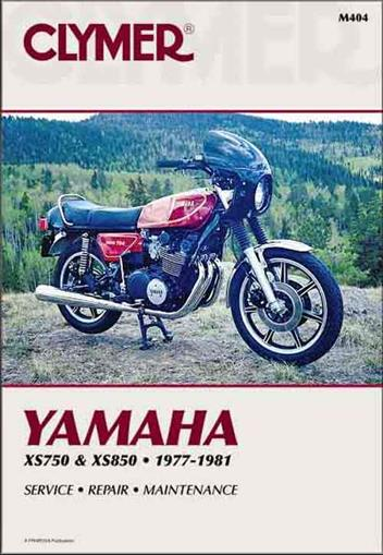 Yamaha XS750 & XS850 1977 - 1981 Clymer Owners Service & Repair Manual