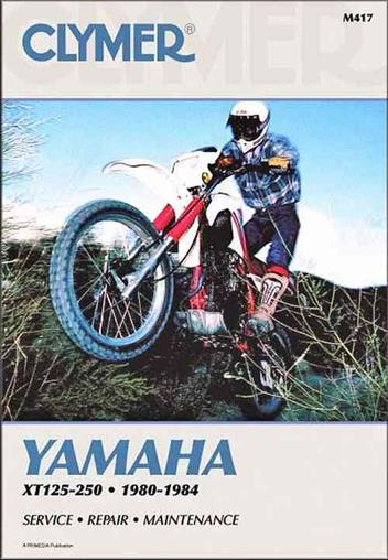 Yamaha XT125 & XT250 1980 - 1984 Clymer Owners Service & Repair Manual