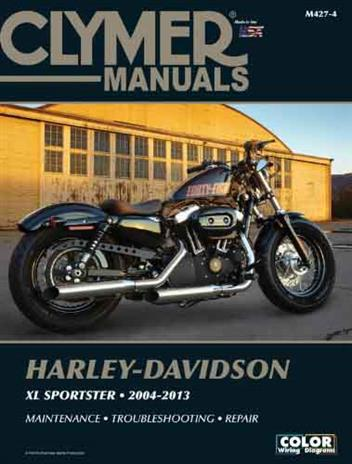 Harley-Davidson Sportster XL883, XL1200 2004 - 2013Clymer Owners Service & Repair Manual