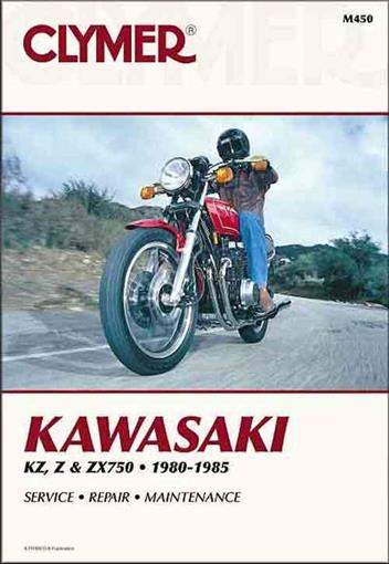 Kawasaki KZ750, Z750, ZX750 1980 - 1985 Clymer Owners Service & Repair Manual