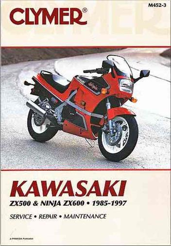 Kawasaki ZX500, ZX600 Ninja 1985 - 1997 Clymer Owners Service & Repair Manual
