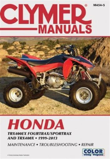 Honda TRX400EX Fourtrax & TRX400EX Sportrax ATV 1999 - 2013Clymer Owners Service & Repair Manual