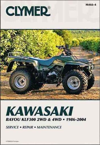 Kawasaki Bayou KLF300 2WD & 4WD ATV 1986 - 2004