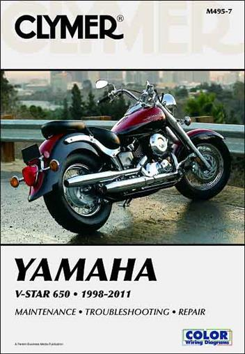Yamaha V-Star 650 1998 - 2011 Clymer Owners Service & Repair Manual