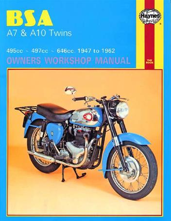 BSA A7 & A10 Twins 1947 - 1962 Haynes Owners Service & Repair Manual