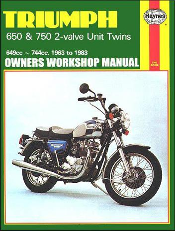 Triumph 650 & 750 2-Valve Unit Twins 1963 - 1983