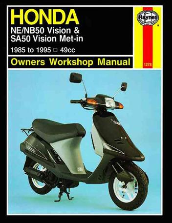 Honda NE / NB50 Vision & SA50 Vision Met-in 1985 - 1995