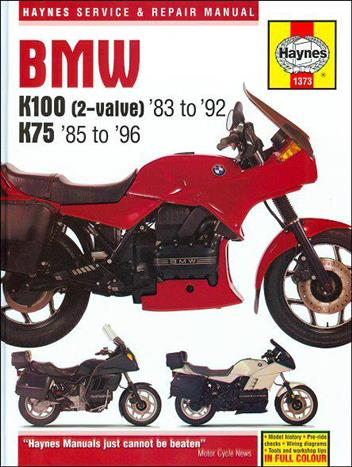BMW K100 (2-Valve) & K75 Models 1983 - 1996