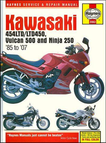 Kawasaki 454LTD, LTD450, Vulcan 500 & Ninja 250 1985 - 2007