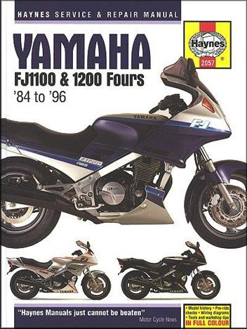 Yamaha FJ1100 & 1200 Fours 1984 - 1996 Haynes Owners Service & Repair Manual