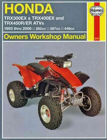 Honda TRX300EX & TRX400EX ATVs 1993 - 2006 Haynes Owners Service & Repair Manual