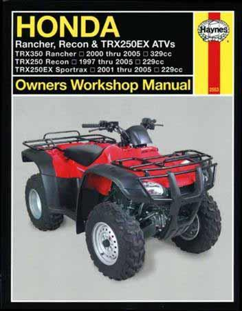 Honda Rancher, Recon & TRX250EX ATVs 1997 - 2005