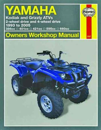 Yamaha Kodiak & Grizzlys ATVs 1993 - 2005 Haynes Owners Service & Repair Manual