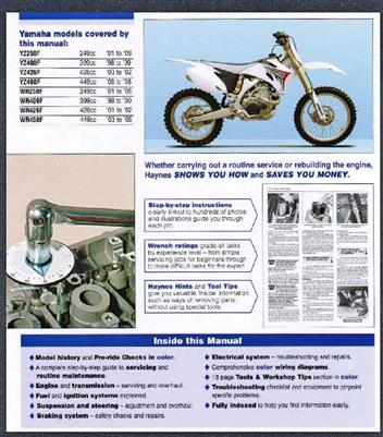 yamaha yz wr 4 stroke motocross off road bikes 1998. Black Bedroom Furniture Sets. Home Design Ideas