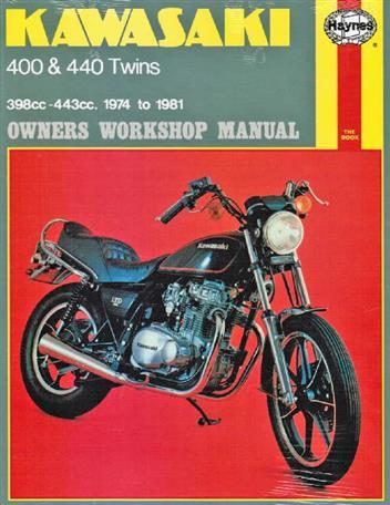 kawasaki 400 440 twins 1974 1981 haynes owners service. Black Bedroom Furniture Sets. Home Design Ideas