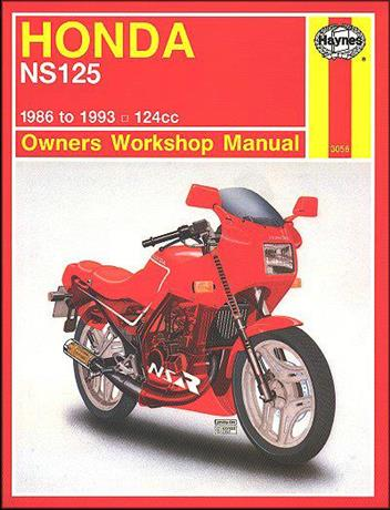 Honda NS125 1986 - 1993 Haynes Owners Service & Repair Manual
