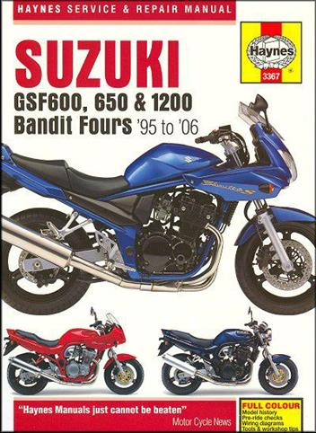 Suzuki GSF600 650 & 1200 Bandit Fours 1995 - 2006Haynes Owners Service & Repair Manual