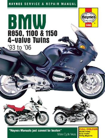 BMW R850, 1100 & 1150 4-valve Twins 1993 - 2006