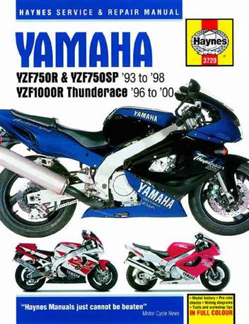 Yamaha YZF750R, YZF750SP & YZF1000R Thunderace 1993 - 2000