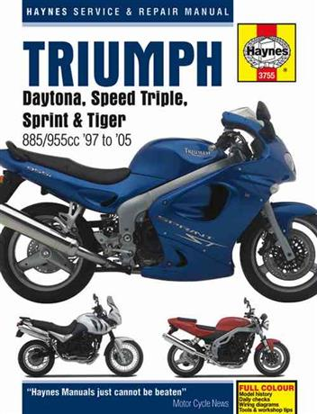Triumph Daytona, Speed Triple, Sprint & Tiger 1997 - 2005