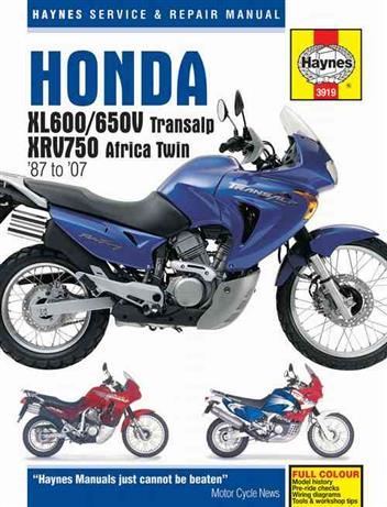 Honda XL600, XL650V Transalp & XRV750 Africa Twin1987 - 2007