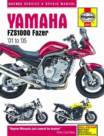 Yamaha Fazer FZS1000 2001 - 2005 Haynes Owners Service & Repair Manual