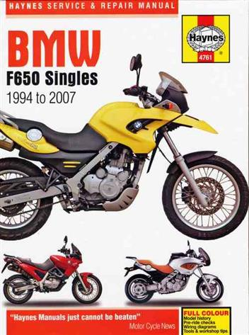 BMW F650 Singles 1994 - 2007 Haynes Owners Service & Repair Manual