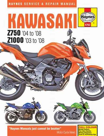 Kawasaki Z750 (ZR750) & Z1000 (ZR1000) 2003 - 2008