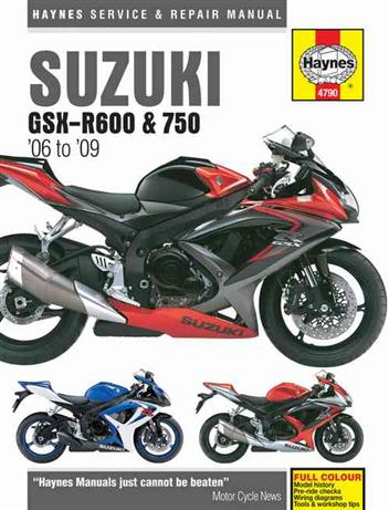 Suzuki GSX-R600 & 750 2006 - 2009 Haynes Owners Service & Repair Manual