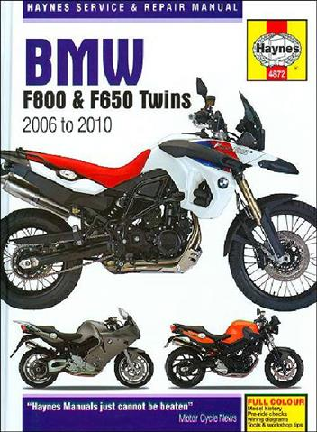 BMW F800, F650 Twins 2006 - 2010 Haynes Owners Service & Repair Manual