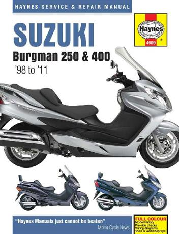 Suzuki Burgman 250 & 400 1998 - 2011 Haynes Owners Service & Repair Manual