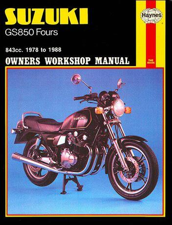 Suzuki GS850 Fours 1978 - 1988 Haynes Owners Service & Repair Manual