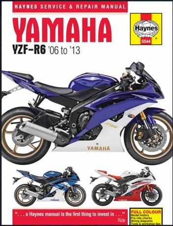 Yamaha YZF-R6 2006 - 2013 Haynes Service & Repair Manual