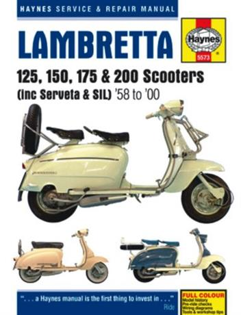 Lambretta Scooters 1958 - 2000 Haynes Owners Service & Repair Manual