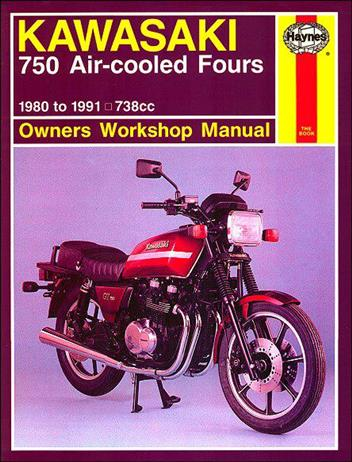 Kawasaki 750 Air-cooled Fours 1980 - 1991 Haynes Owners Service & Repair Manual
