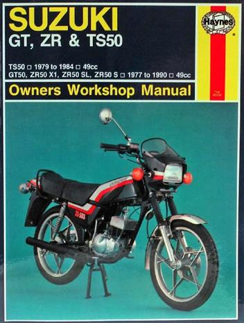 Suzuki GT, ZR & TS50 1977 - 1990 Haynes Owners Service & Repair Manual