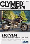 Honda CRF230 2003 - 2013 Clymer Owners Service & Repair Manual