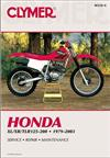 Honda XL, XR & TLR125-200 1979 - 2003 Clymer Owners Service & Repair Manual