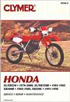 Honda XR200R, XL250, XR250, XL350 & XR350 1978 - 2000