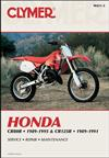 Honda CR80R and CR125R 1989 - 1995 Clymer Owners Service & Repair Manual