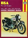 BSA Pre-unit Singles 1954 - 1961 Haynes Owners Service & Repair Manual